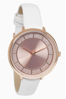Circle Shimmer Dial Watch