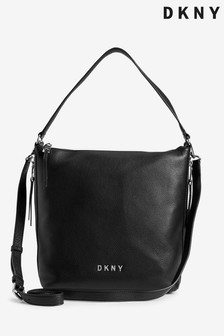 DKNY Tappen Leather Hobo Shoulder Bag