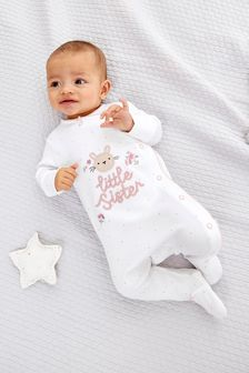 Little Sister Sleepsuit (0-18mths)