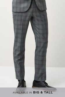 Check Tailored Fit Suit: Trousers