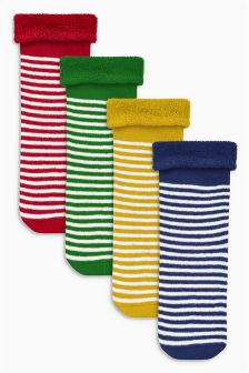 Bright Stripe Socks Four Pack (Younger)