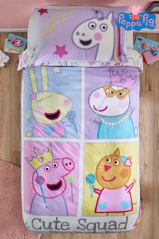 Peppa Pig™ Cute Squad Duvet Cover and Pillowcase Set