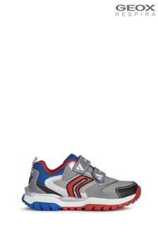 Geox Junior Boy's Tuono Grey/Royal Shoes