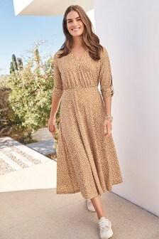 Turn-Up Sleeve Dress