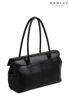 Radley Black Burnham Beeches Large Flapover Shoulder Bag