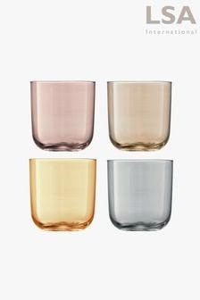 Set of 4 LSA International Polka Tumbler Glasses