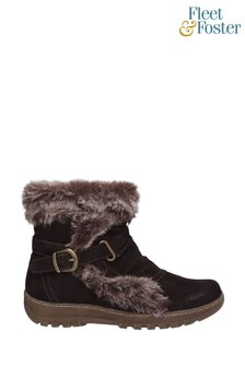 Fleet & Foster Brown Ginny Ankle Boots