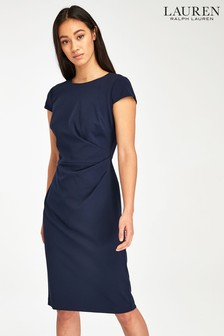 Lauren Ralph Lauren Navy Finnlie Shift Dress
