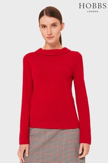 Hobbs Red Audrey Sweater