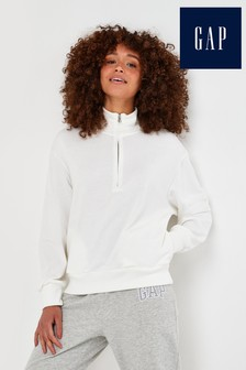 Gap Quarter Zip Pullover Sweatshirt