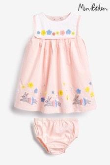 Boden Pink Flutter Appliqué Dress