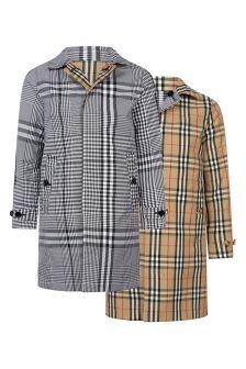 Burberry Kids Boys Black Reversible Coat