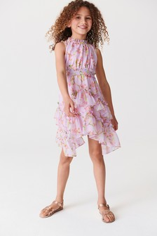 Print Maxi Tiered Dress (3-16yrs)