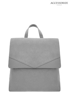 Accessorize Grey Ivy Leather Backpack