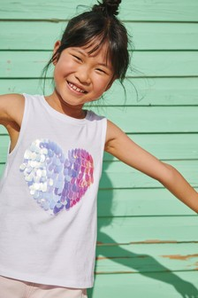 Sequin Heart Vest (3-16yrs)