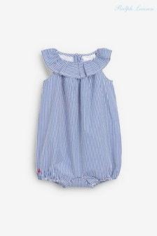 Ralph Lauren Blue Stripe Romper