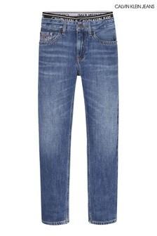 Calvin Klein Jeans Blue Regular Straight Denim Bottoms