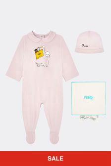 Baby Girls Pink Cotton Gift Set