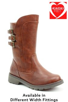 Heavenly Feet Brown Ladies Mid-Calf Boots