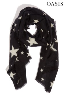 Oasis Black Star Scarf