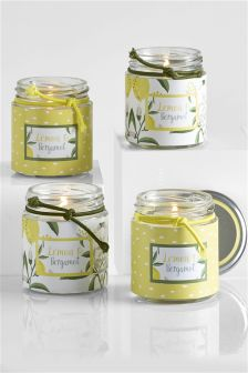 Set of 4 Lemon & Bergamot Candles