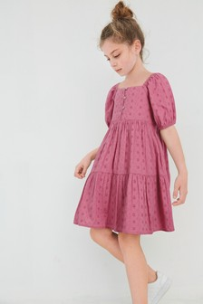Broderie Button Dress (3-16yrs)