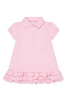 Ralph Lauren Kids Baby Girls Pink Cotton Dress