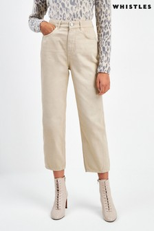 Whistles Stone High Waist Barrel Leg Jeans