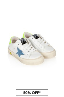 Golden Goose Kids Kids White Leather Trainers