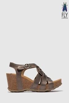 Fly London Slingback High Wedge Sandals
