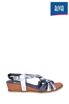 Riva Blue Diamond Elasticated Slingback Sandals