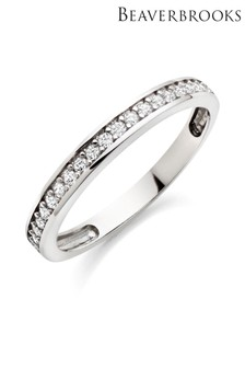 Beaverbrooks 9ct White Gold Cubic Zirconia Eternity Ring