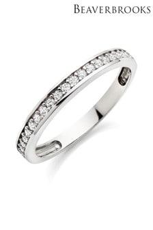 Beaverbrooks 9ct White Gold Cubic Zirconia Eternity Ring