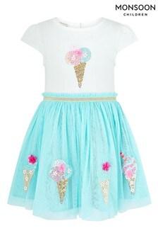 Monsoon Blue Baby Ice Cream Disco Dress