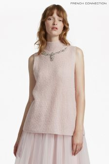 French Connection Pink Mathilde Knits High Neck Jumper