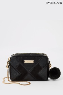 River Island Black Cutabout Boxy Bag