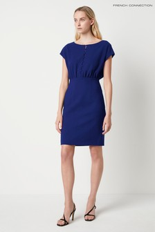 French Connection Blue Whisper Short Sleeve Dress