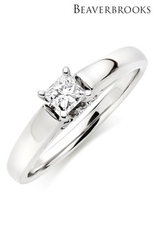 Beaverbrooks 9ct White Gold Diamond Solitaire Ring