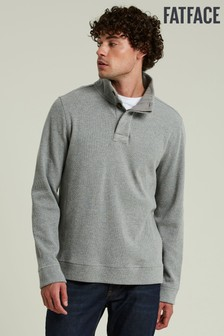 FatFace Grey Kielder Half Neck Top