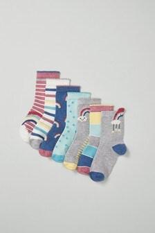 7 Pack Rainbow Socks