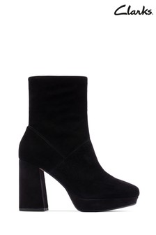 Clarks Black Sheer100 Ankle Boots
