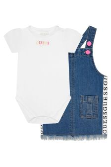Guess Baby Girls Blue Cotton Set