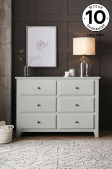 Ashington 6 Drawer Wide Chest