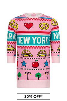 Baby Girls Pink Cotton New York City Dress