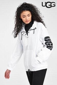 UGG® White Hooded Anorak