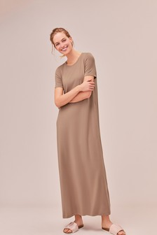 Column Maxi T-Shirt Dress