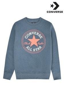 Converse Boys Fleece Chuck Patch Crew Sweatshirt