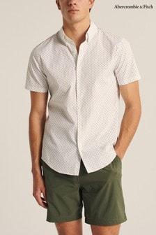 Abercrombie & Fitch Geometric Slim Fit Shirt