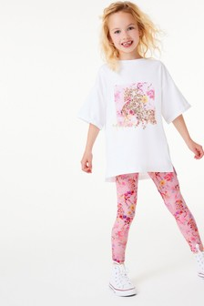 Unicorn T-Shirt And Leggings Set (3-16yrs)