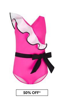 Nessi Byrd Pink Girls Pink Swimsuit
